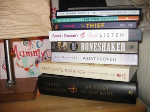 "Books on deck: My TBR (""to be read"") stack"